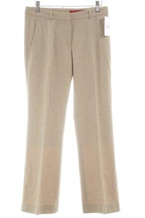 Hugo Boss Bundfaltenhose beige Business-Look