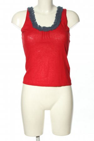 Hugo Boss Camisole rood-blauw casual uitstraling