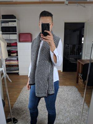 Hugo Boss Sjaal van kasjmier wit-zwart Kasjmier
