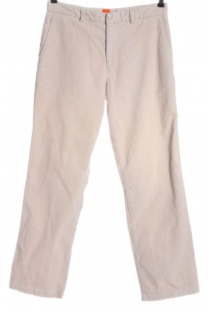 Hugo Boss Corduroy Trousers natural white casual look