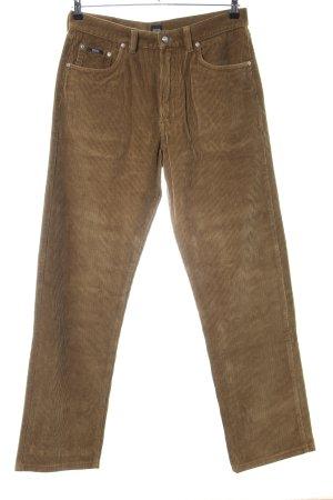 Hugo Boss Pantalon en velours côtelé bronze style décontracté