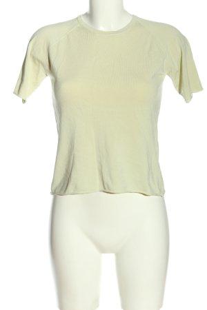 Hugo Boss Cropped Shirt blassgelb Casual-Look
