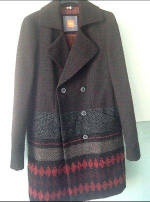 Hugo Boss Marynarski płaszcz brązowy