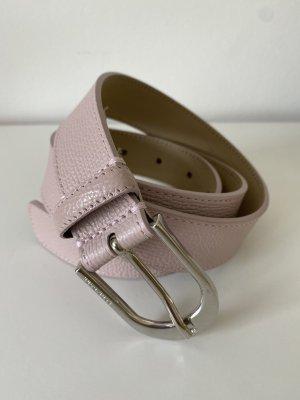 Hugo Boss Cinturón de cuero color plata-rosa claro
