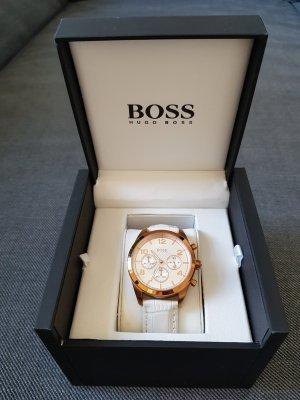 Hugo Boss Montre avec bracelet en cuir or rose