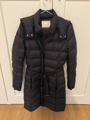 Hugo Boss Down Coat dark blue nylon
