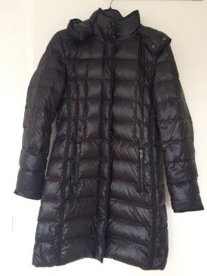 Hugo Boss Abrigo de plumón negro tejido mezclado