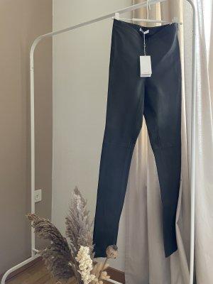 Hugo Boss Leather Trousers dark green