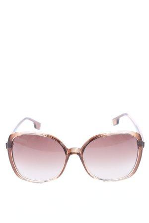 Hugo Boss Hoekige zonnebril bruin casual uitstraling