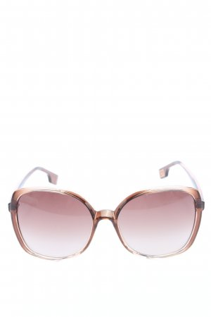 Hugo Boss eckige Sonnenbrille braun Casual-Look