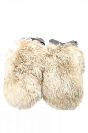 Hugo Boss Mittens cream-brown casual look