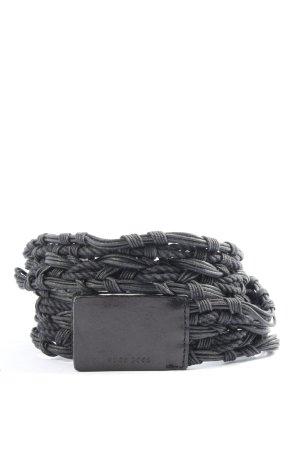 Hugo Boss Ceinture tressée noir style décontracté