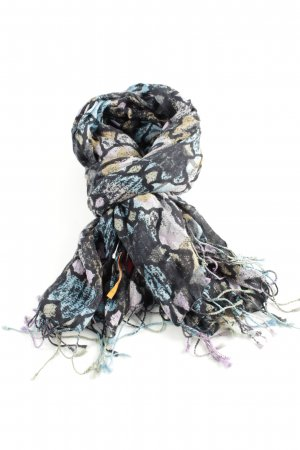 Hugo Boss Fringed Scarf abstract pattern casual look