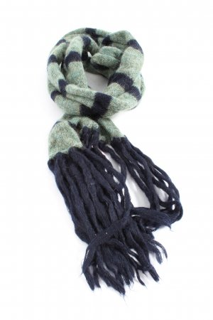 Hugo Boss Fringed Scarf green-blue casual look