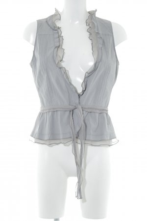 Hugo Boss Fringed Vest grey casual look