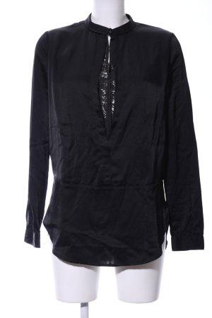 Hugo Boss Blusa brillante nero stile casual