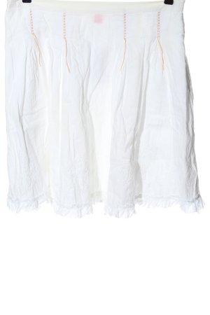 Hugo Boss Rozkloszowana spódnica biały W stylu casual