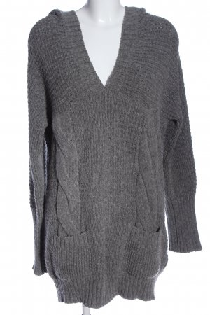 Hugo Boss Coarse Knitted Sweater light grey cable stitch casual look