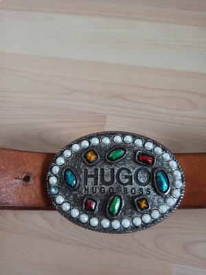 Hugo Boss Leather Belt cognac-coloured