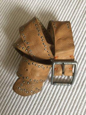Hugo Boss Cintura di pelle beige-color cammello Pelle