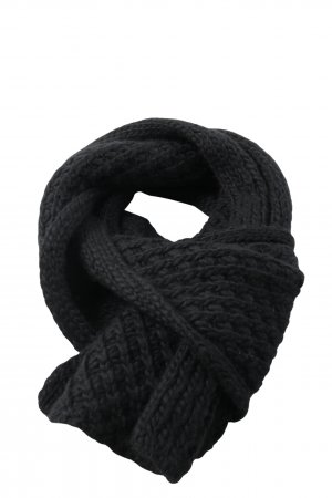 Hugo Boss Szydełkowany szalik czarny W stylu casual