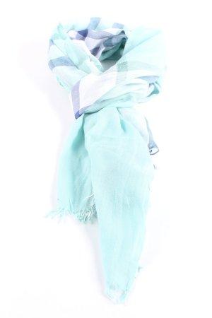 Hugo Boss Fazzoletto da collo turchese-blu motivo a quadri stile professionale