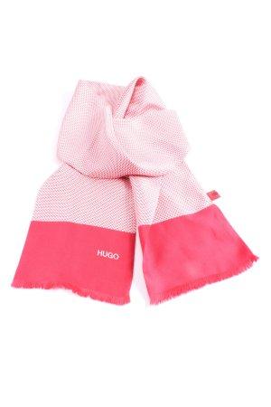 Hugo Boss Apaszka biały-różowy Abstrakcyjny wzór W stylu casual