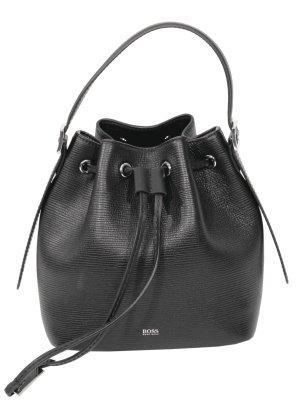 Hugo Boss Handgelenktasche in Schwarz aus Leder