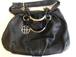 Hugo Boss Handtasche Schwarz Gold Leder