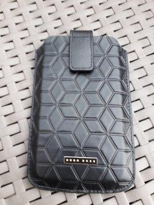 Hugo Boss Mobile Phone Case black leather
