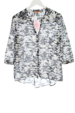 Hugo Boss Shirt Blouse black-white abstract pattern business style