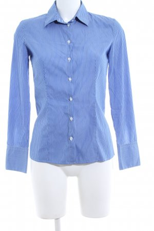 Hugo Boss Hemd-Bluse blau-weiß Streifenmuster Business-Look