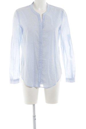 Hugo Boss Hemd-Bluse blau-weiß Punktemuster Business-Look