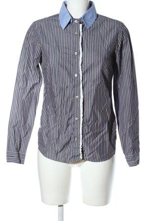 Hugo Boss Hemd-Bluse schwarz-blau Allover-Druck Casual-Look