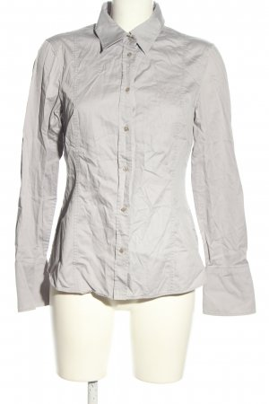 Hugo Boss Hemd-Bluse hellgrau Business-Look