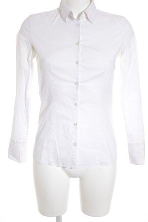 Hugo Boss Hemd-Bluse weiß klassischer Stil