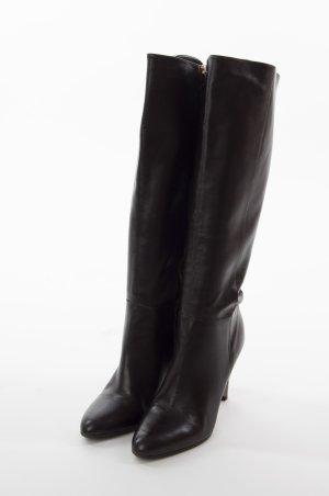HUGO BOSS - High Heel Lederstiefel Braun