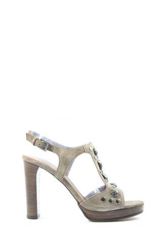 Hugo Boss High Heel Sandaletten hellgrau Casual-Look