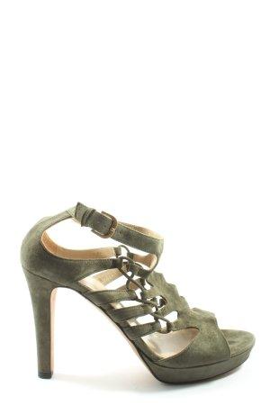 Hugo Boss High Heel Sandaletten khaki Casual-Look
