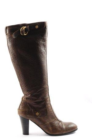 Hugo Boss Wysokie buty na obcasie brąz W stylu casual
