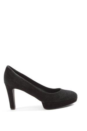 Hugo Boss Chaussure à talons carrés noir style décontracté