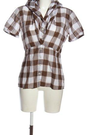 Hugo Boss Koszula w kratę brązowy-biały Na całej powierzchni W stylu casual