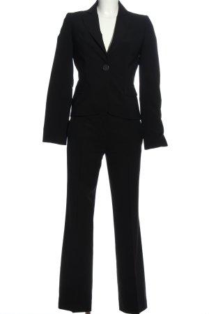 Hugo Boss Garnitur damski czarny W stylu biznesowym