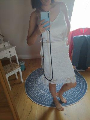 HUGO Hugo Boss Falda de encaje blanco puro