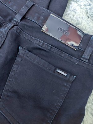 Hugo Boss Jeans skinny bleu foncé tissu mixte