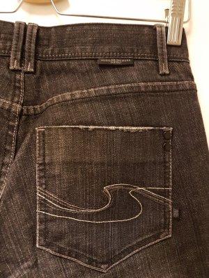 Hugo Boss Jeansy z prostymi nogawkami czarny-szary