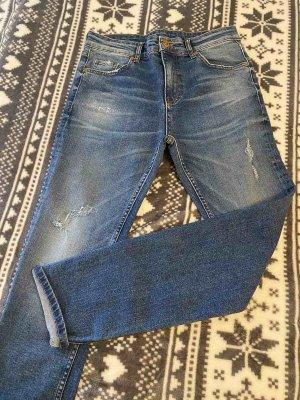 Hugo Boss Dopasowane jeansy ciemnoniebieski-niebieski