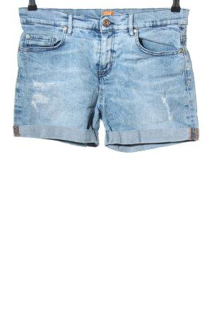 Hugo Boss Pantaloncino di jeans blu stile casual