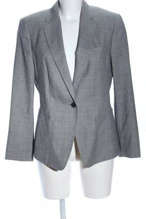 Hugo Boss Long-Blazer hellgrau meliert Business-Look