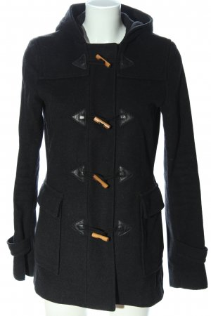 Hugo Boss Capuchon jas zwart casual uitstraling